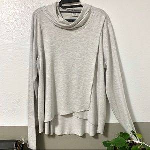CABI Cowl Neck Split Front Sweater